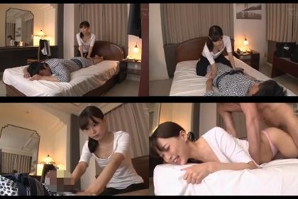 激カワ女エステサロン師の胸チラに耐えるできずエレクトチ○ポを見せ付けて見た!!